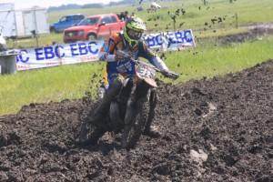 Seth carving his way through the mud
