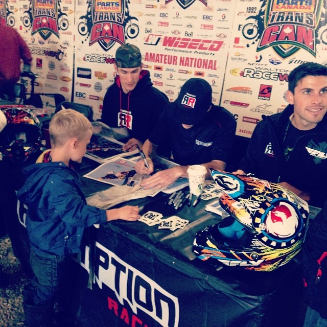 #redemptionracing signing autographs with @sethro672 @eric_jeffery @toc427